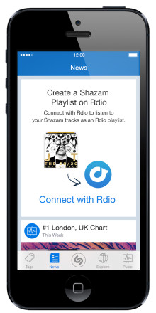 Music You Shazam Automatically Becomes an Rdio Playlist