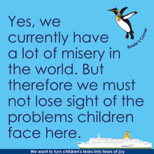 We must not lose sight of the problems children face here.