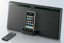 Klein aber fein: Sony stellt neue Docking Station RDP-X50iP für iPod und iPhone vor