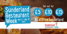 Sunderland Restaurant Week – 11-19 March