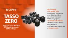 Promozione Tasso Zero su fotocamere e ottiche di Sony estesa fino al 31 agosto