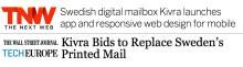 The Wall Street Journal och The Next Web uppmärksammar lanseringen av den digitala brevlådan Kivra