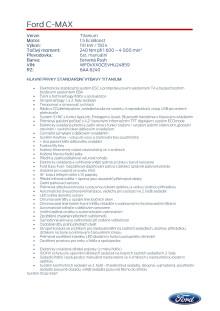 Specifikace Fordu C-MAX Titanium