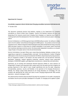 DfT Smart Charging Consultation Response