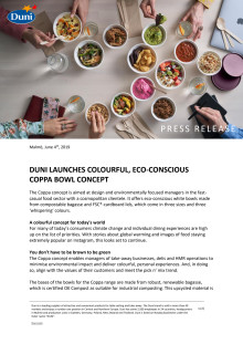 Duni lanuches colourful, eco-conscious Coppa bowl concept