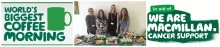 Finegreen host cake and coffee morning in support of MacMillan Cancer Support