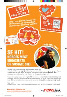 Nå søker vi en Country Manager for Mynewsdesk Norge