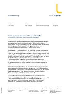 Pressemitteilung LVV-Gruppe - Wir sind Leipziger