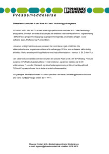 Sikkerhedscontroller til det åbne PLCnext Technology økosystem