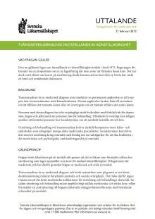 Kravet på sterilisering i samband med könsbyte bör avskaffas