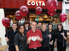 There were smiles all around this week for staff at Costa Coffee in Butcher's Row, Salisbury