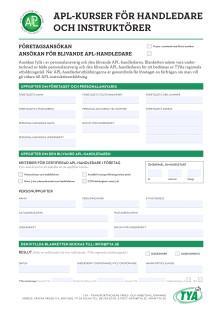 Anmälningsformulär till kursen