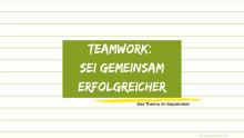 Teamwork: Kostenfreie Webinare für Student/innen im September