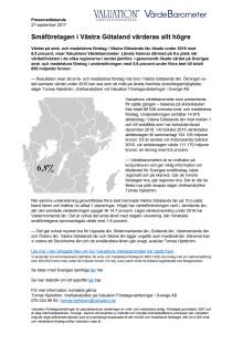 Värdebarometern 2017 Västra Götalands län