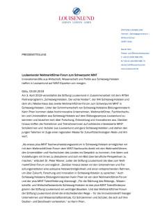 Louisenlunder Weltmarktführer-Forum zum Schwerpunkt MINT