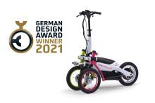 """Yamaha Motor receives its first design award for electric personal mobility TRITOWN    - Winning Excellent Product Design at """"German Design Award 2021"""" -"""