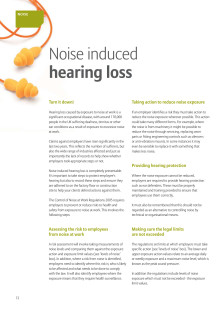 Property & Casualty Newsletter Part 5 Noise Induced Hearing Loss
