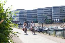 RuhrtalRadweg bekommt neuen Zielpunkt im Innenhafen in Duisburg
