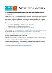 StyrelseAkademien och Svenskt Kvalitetsindex undersöker: Reagerar din styrelse på förändringar i kundbeteenden?