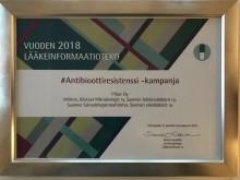 Pfizerille ja yhteistyökumppaneille Vuoden Lääkeinformaatiotekopalkinto