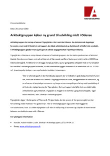 Arkitektgruppen køber ny grund til udvikling midt i Odense