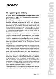 Moneypenny glänzt für Sony