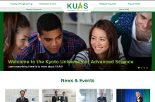 Kyoto University of Advanced Science launches brand-new English-language website