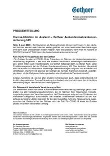 Corona-Infektion im Ausland – Gothaer Auslandsreisekrankenversicherung hilft