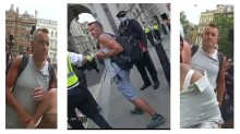 Appeal to identify man after female officer kicked in the head at protest