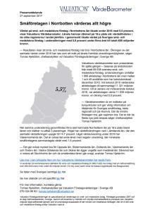 Värdebarometern 2017 Norrbottens län