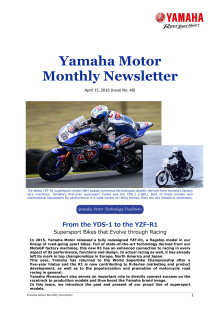 Yamaha Motor Monthly Newsletter  No.40(Apr.2016)From the YDS-1 to the YZF-R1