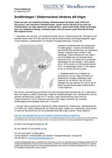 Värdebarometern 2017 Södermanlands län