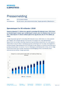 Sjømateksport for 99 milliarder i 2018