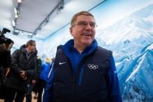 IOC presidenten besøkte åpningen av Samsungs Galaxy-studio