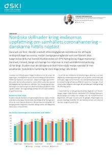 Nordiska skillnader kring invånarnas  uppfattning om samhällets coronahantering – danskarna hittills nöjdast
