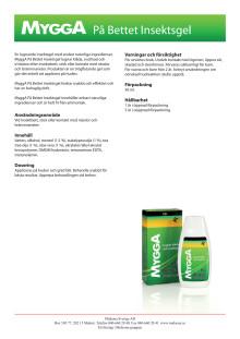 MyggA På Bettet Insektsgel - produktblad