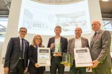 """ZÜBLIN Timber erhält Sonderpreis im Wettbewerb """"GEPLANT+AUSGEFÜHRT"""" für Sporthalle Gymnasium Diedorf"""