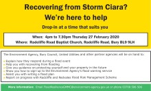 ​Support for Radcliffe and Redvales residents affected by flooding to be given at multi-agency drop-in event