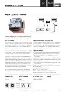 Digital Yacht Aqua Compact Pro - a new powerful, mini marine PC