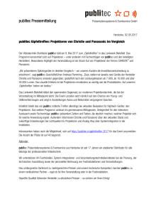 publitec Gipfeltreffen: Projektoren von Christie und Panasonic im Vergleich