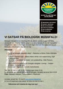 Inbjudan frukost Biologisk mångfald 22 maj