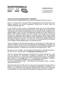 """""""Archiv der verlorenen Ereignisse 2020"""" veröffentlicht"""