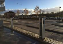 Elbilsladdning vid Ronneby Resecentrum