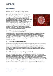 Fact Sheet Listicle 10 Fragen zu HCV