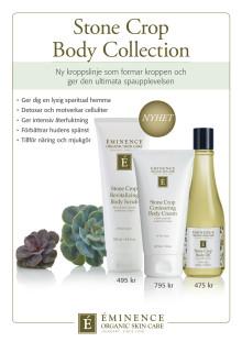 Éminence Organics Stone Crop Body Collection 2019 A4 Skylt