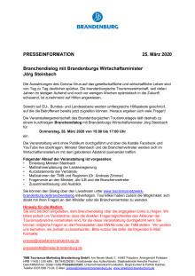 Branchendialog mit Brandenburgs Wirtschaftsminister Jörg Steinbach
