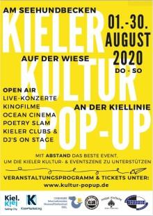 Endlich wieder Kultur live erleben - Kieler Kultur Pop Up - Open Air Event an der Kiellinie
