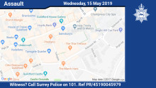 Witness appeal following assault and robbery in Guildford