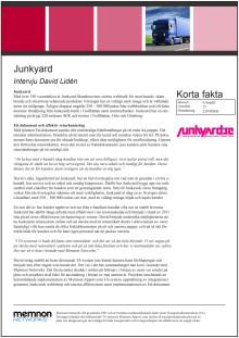 Intervju Junkyard
