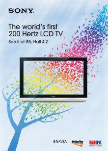 Sony unveils its show highlights at IFA 2008 and invites to experience 'The Immediate Future of Digital Entertainment'